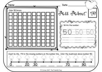 Springtime Number Order 0-100: Transitioning 10s