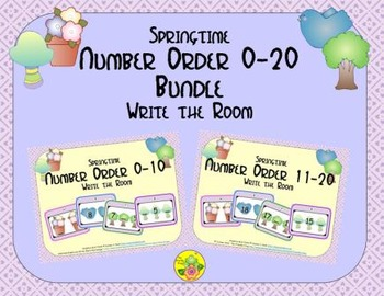 Springtime Number Order 0-20 Bundle