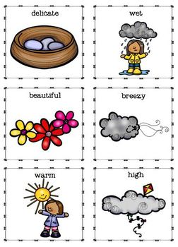 Springtime Parts of Speech Matching and Worksheets