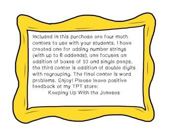 Springtime Peeps Addition/Subtraction Math Centers