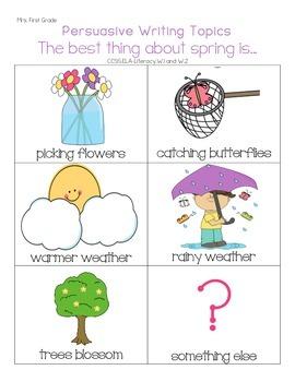 Springtime Opinion / Persuasive Writing - CC Aligned