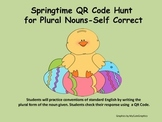 Plural Nouns (regular and irregular) Springtime QR Code Hunt or SCOOT Game