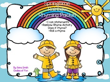 Springtime Rainbow Rhyme Packet