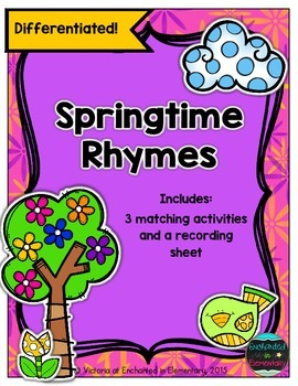 Springtime Rhymes- Differentiated Matching Activity