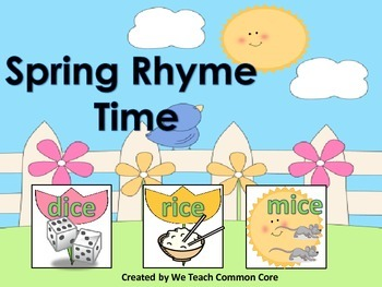 Springtime Rhyming Activity Word Work Station Daily 5