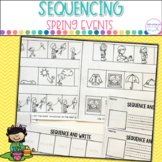 Springtime Sequencing- Pictures and Writing