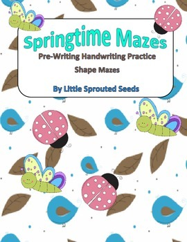 Springtime Shape Mazes