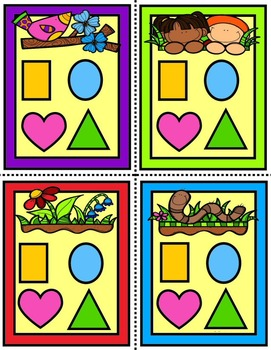 Springtime Shapes Match Dice Game