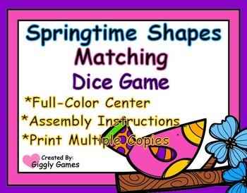 Springtime Shapes Match Dice Game