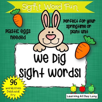 Springtime Sight Word Game: We Dig Sight Words!