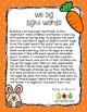 Springtime Sight Word Game: We Dig Sight Words!
