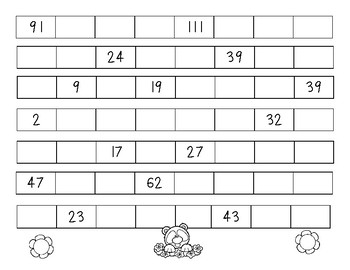 Springtime Skip Counting - Skip Counting by 5 Number Patterns Practice