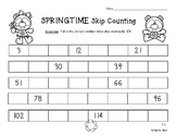 Springtime Skip Counting - Skip Counting by 3 / Number Patterns Practice