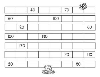 Springtime Skip Counting - Skip Counting by 10 / Number Patterns Practice
