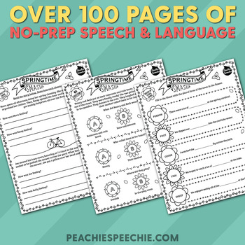 Springtime Smash: No-Prep Speech and Language Activities