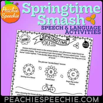 Springtime Smash: No Prep Speech and Language
