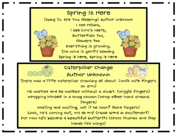 Springtime Songs for Early Childhood