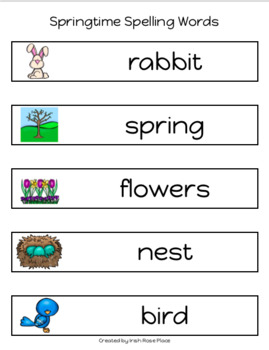 Spring Spelling Books (Adapted Book)