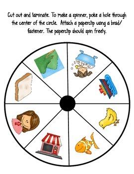 Springtime Spin-a-Word Literacy Center