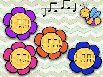 Springtime Stick to Staff Interactive Practice: so-mi-la