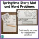 Springtime Story Mat and Word Problems (simple addition and subtraction)