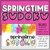 Springtime Sudoku - Digital Morning Meeting Game - Virtual
