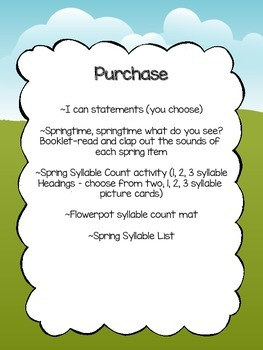 Springtime Syllable Packet