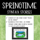 Springtime Syntax Story: Frogs in the Spring {Past Tense Verbs}
