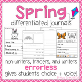 Spring Themed Differentiated Journal Writing for Special Education