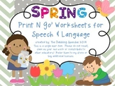 Springtime Themed No Prep Speech and Language Activities