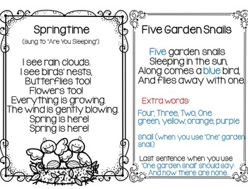 Springtime! (Three Pocket Chart Activities)