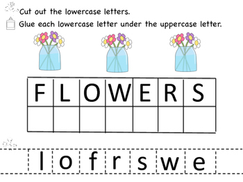 Springtime Uppercase and Lowercase Letter Match
