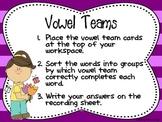 Springtime Vowel Teams Center
