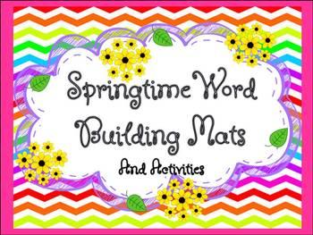 Springtime Word Building Mats