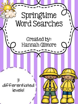 Springtime Word Searches!