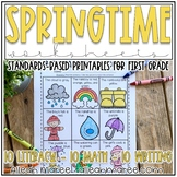 Springtime Worksheets for First Grade: Spring Literacy and