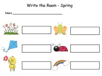 Springtime Write the Room.