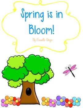 Springtime Write the Room Literacy Center