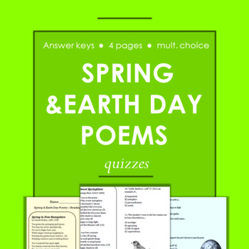 Springtime and Earth Day Poems with Multiple Choice Readin