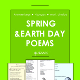 Springtime and Earth Day Poems with Multiple Choice Reading Questions