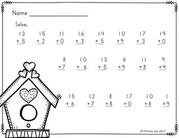 Springy Addition and Subtraction (numbers within 20)