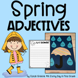 Springy Adjectives! (spring adjective writing & craft}