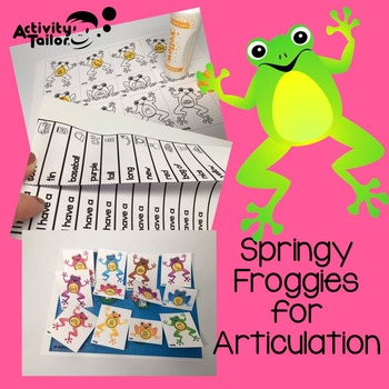 Spring Worksheets for Articulation: Jumping Frogs
