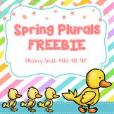 Springy Plurals FREEBIE