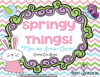 Springy Things! Math and Literacy Centers (Common Core Aligned)