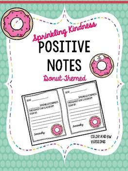 Sprinkling Kindness Positive Notes Donut Themed