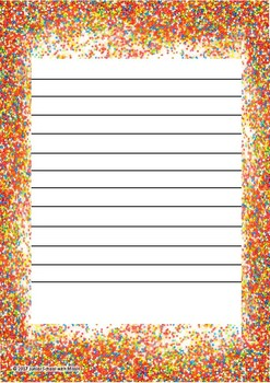Sprinkle Border Writing Page