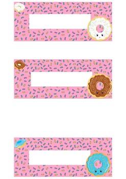 Sprinkle Donut Classroom Labels