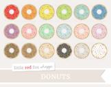 Sprinkle Donut Clipart; Rainbow, Baking, Dessert, Treat, Doughnut