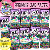 Sprinkle Jar Faces: Bakery Clipart {DobiBee Designs}